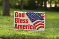 God Bless America sign at Tea Party Rally Royalty Free Stock Photo