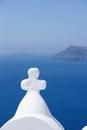 God bless in santorini island greece Royalty Free Stock Photos