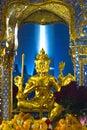 God Brahma at Erawan Shrine, Bangkok Royalty Free Stock Photo