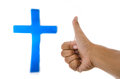God is good blue cross in concept Royalty Free Stock Image