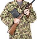 God, Guns,Guts, Bible Isolated Royalty Free Stock Photo