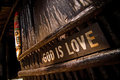 God is love the caribbean christianity slogan Royalty Free Stock Photo