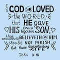 For God so loved the world John 3 16 Royalty Free Stock Photo
