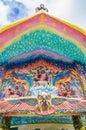 God of mythology sculpture on entrance the sanctuary in ban rai temple korat thailand Royalty Free Stock Photos
