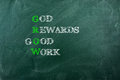 God Reward Good  Work Royalty Free Stock Image