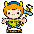 The god of strangers, Hermes Stock Images
