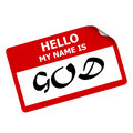 Hello my name is God