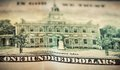 In god we trust motto on one hundred dollars bill conceptual the united states of america Stock Image
