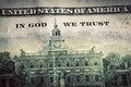 In God We Trust motto on One Hundred Dollars bill Royalty Free Stock Photo