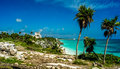 God of winds temple in tulum Royalty Free Stock Photography