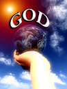 God the World In His Hands 2 Stock Photo