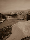 Godafoss in iceland waterfall norther Stock Photography