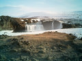 Godafoss in iceland waterfall norther Royalty Free Stock Photos