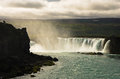 Godafoss waterfall or waterfall of the gods, north Iceland Royalty Free Stock Photo