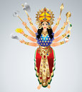 Goddess durga animated vector