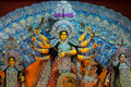 Goddess durga clay idol