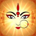 Goddess Durga for Happy Dussehra celebration.