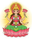 Goddess lakshmi brings wealth and prosperity vector illustration Stock Photos