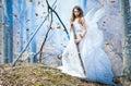 Goddess of nature beautiful girl posing as the Royalty Free Stock Photos