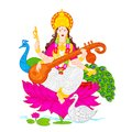 Goddess Saraswati Royalty Free Stock Photo