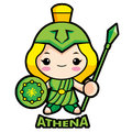 Goddess of war Athena Royalty Free Stock Images
