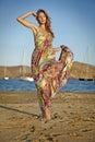 Goddess of the wind Stock Photo