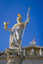 The goddess of wisdom athena fountain pallas athene brunnen in front parliament was erected between and by carl kundmann josef Stock Photography
