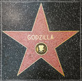 Godzilla s star on hollywood walk of fame june june in california this is located blvd Stock Photos