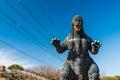 Godzilla statue in kurihama yokosuka japan feb Royalty Free Stock Photography
