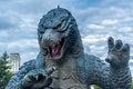 Godzilla statue in roppongi tokyo Stock Photo