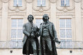 Goethe-Schiller monument in Weimar Royalty Free Stock Images