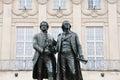 Goethe-Schiller monument in Weimar Royalty Free Stock Photo