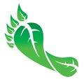 Gogreen footprint green leaves