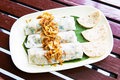 Goi cuon vietnamese fresh spring rolls delicious roll with vegetable Stock Image