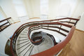 Going down spiral staircase Royalty Free Stock Photo