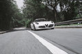 Going fast in an italian supercar lots of turbo lag Royalty Free Stock Photography
