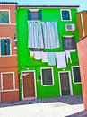 Going green in Burano Stock Images