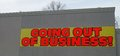 Going Out of Business Sign Royalty Free Stock Photo