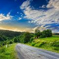 Going to nature asphalt road mountain passes rural places Royalty Free Stock Image