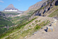 Going to the Sun Road in Glacier National Park. Royalty Free Stock Photo