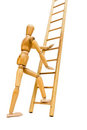 Going up the ladder Royalty Free Stock Images