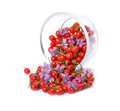 Goji berries fresh color tibetan in a glass container Royalty Free Stock Photos