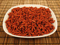 Goji Berries on a Plate Royalty Free Stock Image
