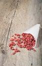 Goji berries in wooden background tibetan dried Stock Photography