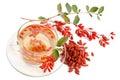 Goji fresh antioxidant tea on white background Stock Image