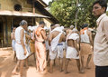 Gokarna india mar cremate ceremony in gokarna unide brahmins prepared for cremation relative unidentified elderly brahmin his Stock Image