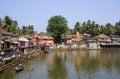 Gokarna karnataka india february locals bathe in th the sacred lake kotiteertha Royalty Free Stock Image
