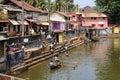 Gokarna karnataka india february locals bathe in th the sacred lake kotiteertha Stock Photography