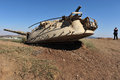Golan heights aug a destroyed syrian tank on august in g h israel syria tried to regain the plateau in war but failed since Royalty Free Stock Photos