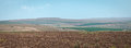 Golan heights mountains on the israel Stock Photos